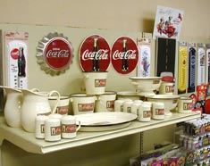 Vist our Coke memorabilia section