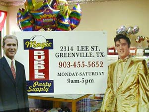 Invite Elvis to your next party with a life size stand-up